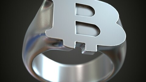 Bitcoin signet finger ring jewelry