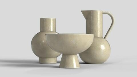 Ceramic Vase Set 01 - Real-time Assets