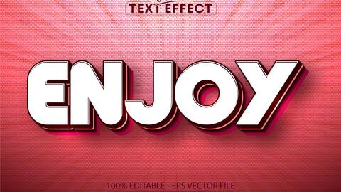 Enjoy text, cartoon style editable text effect