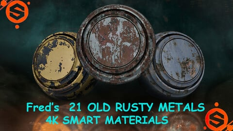 Fred's 21 Rusty Old Smart Materials (4k) Vol 1