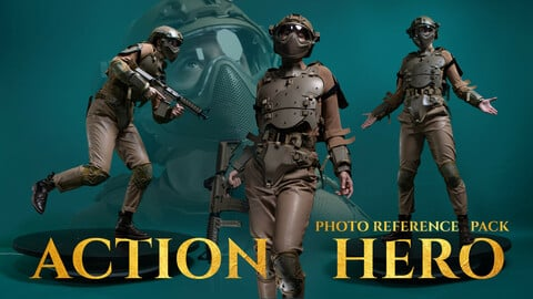 Action Hero Photo Reference Pack for Artists 548 JPEGs