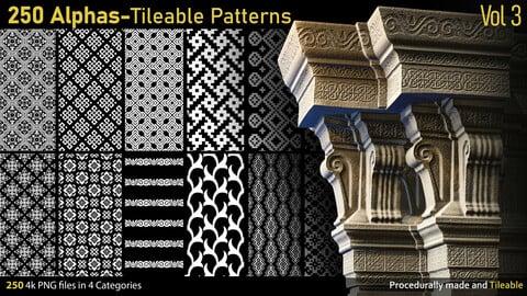 250 Alphas-Tileable Patterns-Vol3