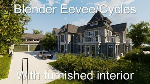 Large Mansion 2021 Blender Eevee and Cycles 1