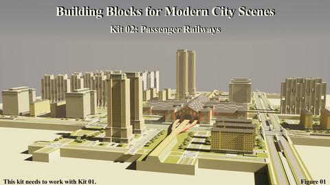 Building Blocks for Modern City Scenes – Kit 02