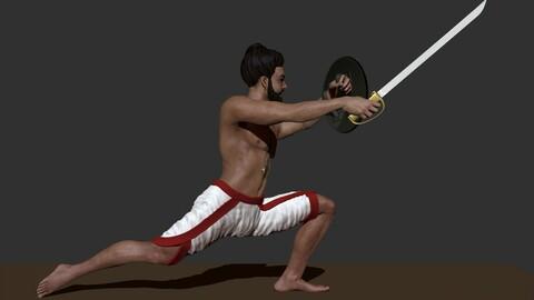kalarippayattu-Indian martial art 3D Print ready