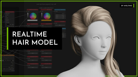Realtime Hair Model - Hairstyle 003