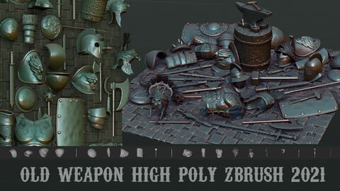Old weapon high poly zbrush 2021 ZPR zbp