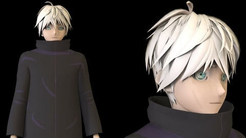Anime Boy Low Poly Character 1