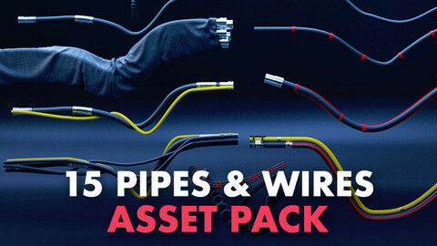 15+ Pipes and wires asset pack