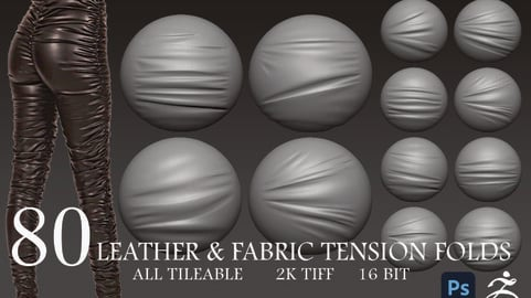 80 Leather & Fabric Tension Folds