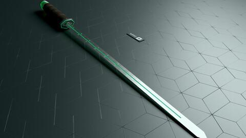 Sci Fi Sword Weapon