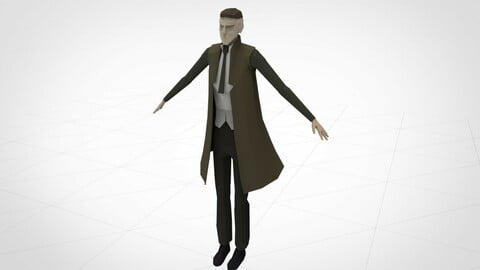 Detective Low Poly