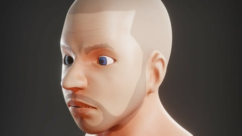 Head for practice hair particle system