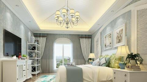 Deluxe master bedroom design  171