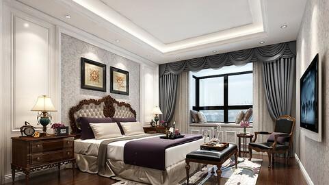 Deluxe master bedroom design  179