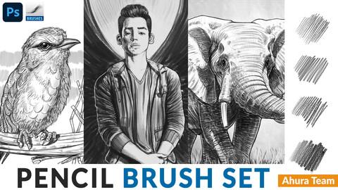 Pencil brush set