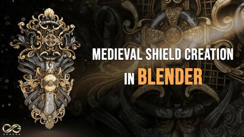 Create Super Detailed Shield In Blender Tutorial ( Modeling / Texturing / Render )