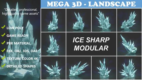 Low poly Sharp Ice Modular 210921
