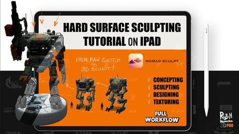 HARD SURFACE SCULPTING tutorial on IPAD (NomadSculpt)