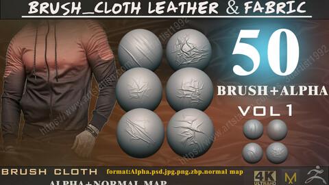 50 brush_cloth leather & fabric vol 1