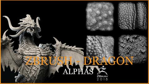 Z BRUSH DRAGON ALPHAS - BLENDER -BRUSH - DRAGON - ALPHAS SALES