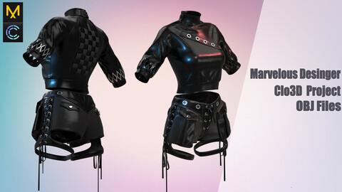 Costume for sexy girl / Marvelous Desinger/Clo3D Project+OBJ File