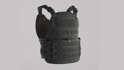 Tactical Bullet Proof Vest - PBR Lowpoly Game Ready
