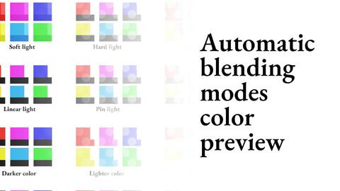 Clip Studio Paint Asset - Automatic blending modes color preview