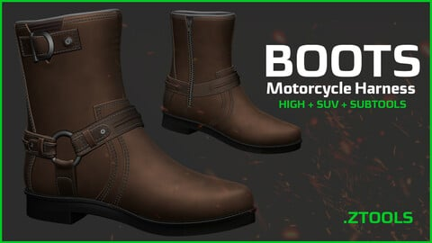 Motorcycle Harness Boot - HIGH