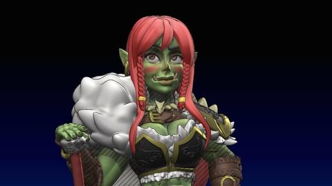 High Orc Warrior Female Mini