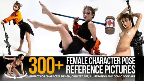 300+ Female Character Pose Reference Pictures