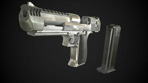 Desert Eagle PBR Worn Low-poly 3D model