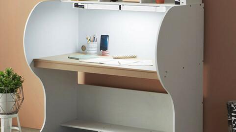 Elite Reading Room Desk with 1230 Wide Emotion LED Stand