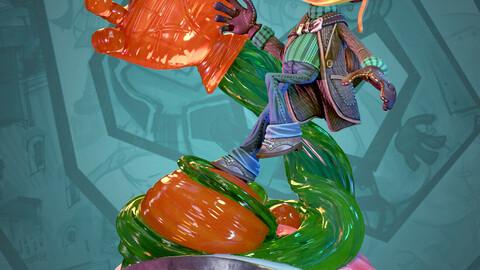 Razputin Aquato Statue Fan Art (3D Printable STLs)