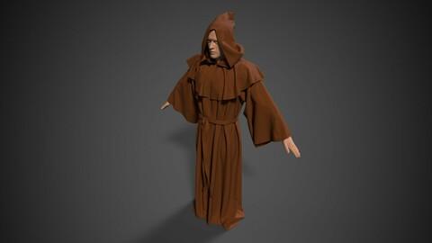 Medieval monk robe