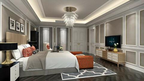 Stylish bedroom complete 35