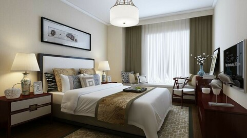 Stylish bedroom complete 82