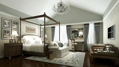 Stylish bedroom complete 84