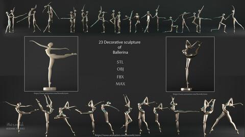 23 Decorative sculpture of Ballerina 3D model
