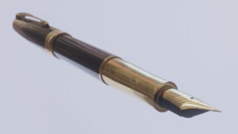 Parker Pen Low-poly 3D model