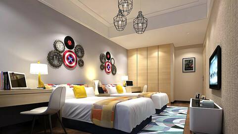 Stylish bedroom complete 214