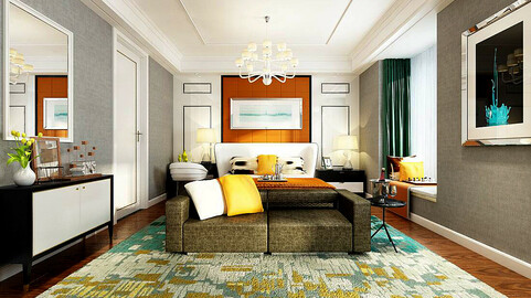 Stylish master bedroom design  05
