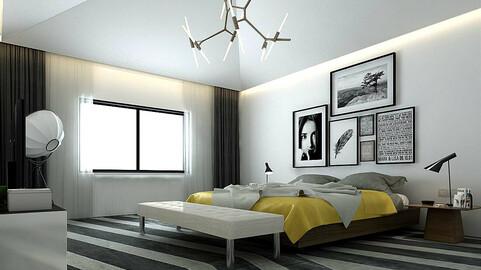 Stylish master bedroom design  08