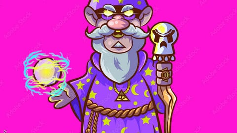Master Mage and his magic staff..eps