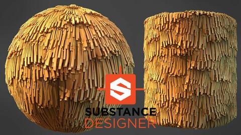 Stylized Wheat Roof - Substance Designer