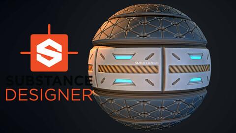 Stylized Sci-Fi Panel - Substance Designer