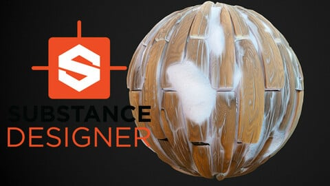 Stylized Snowy Wood Planks - Substance Designer