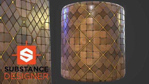 Stylized Marble Tile - Substance Designer