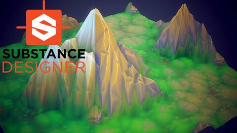 Stylized Mountain - Substance Designer