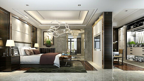 Stylish master bedroom design  40